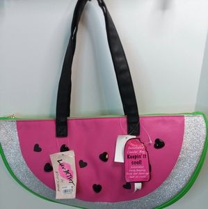 NEW LUV BETSEY JOHNSON WATERMELON COOLER TOTE